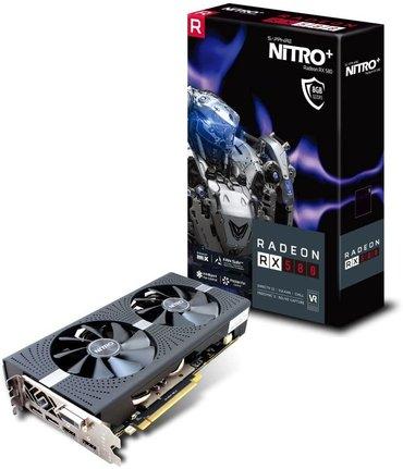 Продаю видеокарту Saphire rx 580 nitro+ аналог 1070 8gb ddr5 256bit