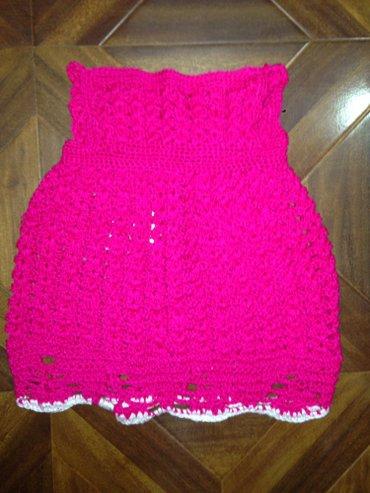 Очень красивое ярко розовое вязаное платье на девочку 9-12-18 месяцев  в Бишкек