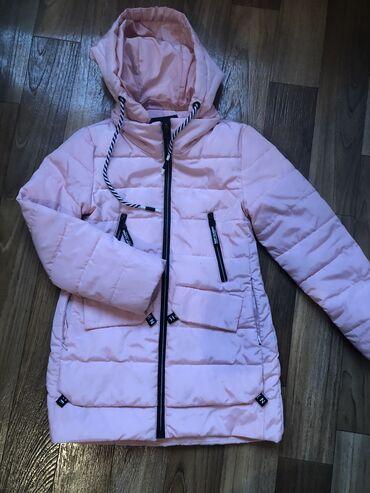 Деми куртка на девочку 8 9 лет можно и на тёплую зиму