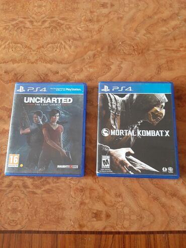 Ps 4 Uncharted The Lost Legacy və Mortal Kombat X diskləri təzə