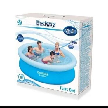 Бассейны - Лебединовка: Продаем бассейн борт надувной диаметр 198 см высота 51 см объем 1125