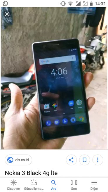 Bakı şəhərində Nokia 3 .android 8.1.0 yaddaş 16 gb zaryatka yaxwi saxliyir .şekili
