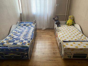 банные халаты бишкек в Кыргызстан: Срочно продаю одну кровать машинку. Цвет синий остался. Матрасы имеетс
