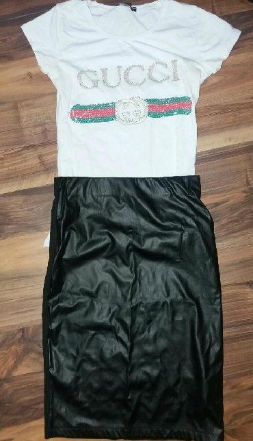 Gucci-s-wuj - Srbija: Suknja Coton nova 1300 din bluza Gucci 1400.ako kupujete komplet