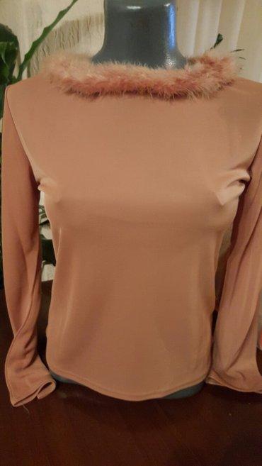 Roze bluza  sa perjem  novo doneta iz francuske - Pozarevac