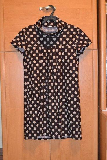 блузка в горошек в Кыргызстан: Платюшко-туничка в горошек. очень красивое. длина выше колен. подойдет