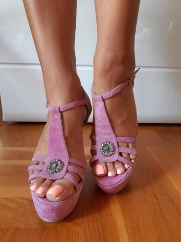 Roze sandale br.37!! Preudobne. Jednom obuvene 500din - Novi Sad - slika 3