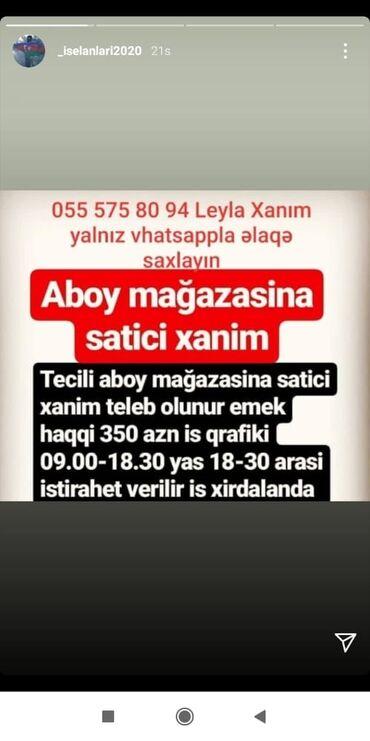 bmw z3 18 mt - Azərbaycan: Satış məsləhətçiləri. Natamam iş günü