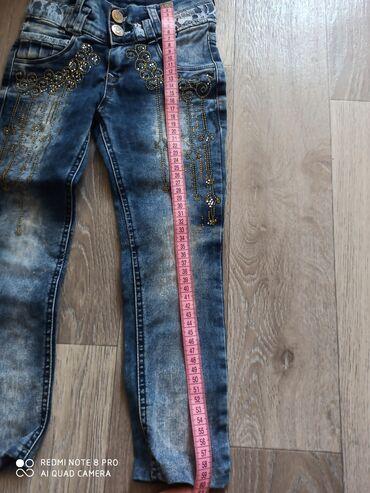 Продаются б.у девочковые джинсы состояние среднее.Размеры указаны