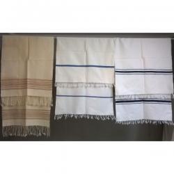 Πετσέτες υφαντές ( 3 ) - Αχρησιμοποίητες 1. Με την κεραμιδί ρίγα
