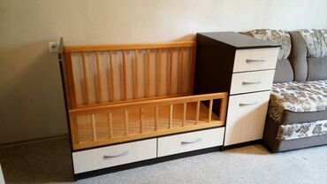 Детская кроватка для ребенка с рождения до 7 лет. Дизайн –