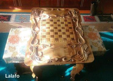 Продаю шахматный столик со стульчиками ручная работа  в Лебединовка