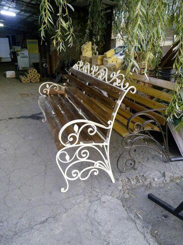 скамейки кованные в Кыргызстан: Кованые скамейки, в наличии и на заказ! В наличии 2 штуки, цена 12000