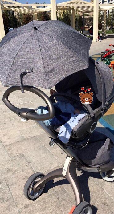detskaya obuv na kabluke в Азербайджан: Kolaska orginal stokke mothercare dan alinib az surulub 1400 alinib