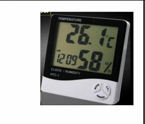 Термометры Термометр черный-Гигротермометр-htc-1 - Цена указана за 1
