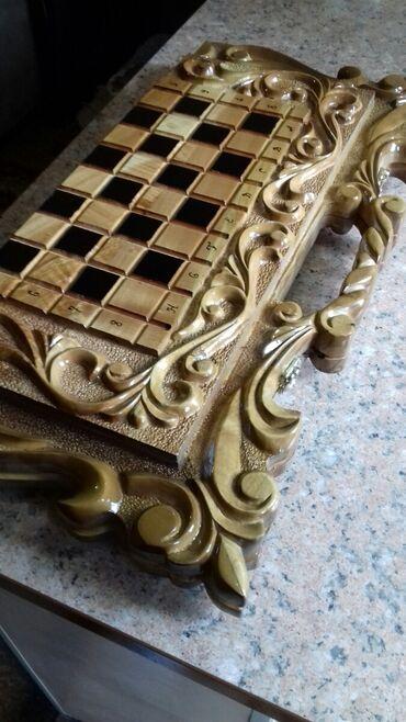 derevjannye igrushki na elku в Кыргызстан: Нарды, шахматы два в одном.Ручная работа.Отличный подарок для друзей и
