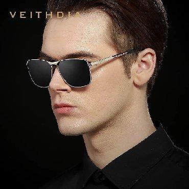 Мужские винтажные солнцезащитные очки премиум класса VEITHDIA