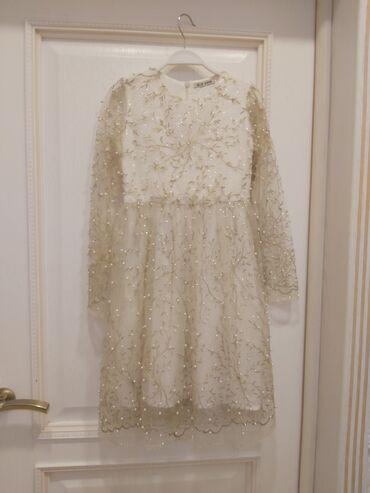 золотое платье в пол в Кыргызстан: Шикарное дизайнерское платье от Elie Saab качество люкс,платье