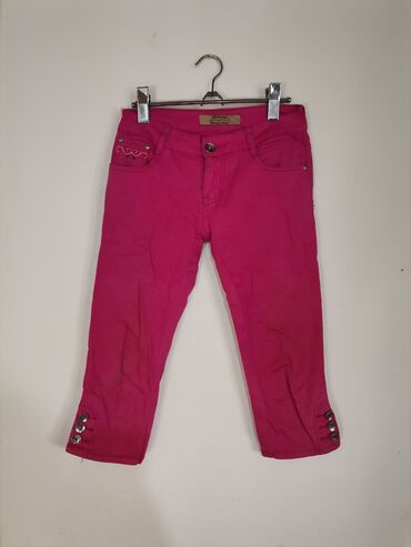 Pink pantalone - Srbija: Pink 3/4 pantalonice Velicina S Mere Poluobim struka 36 cm Duzina celi