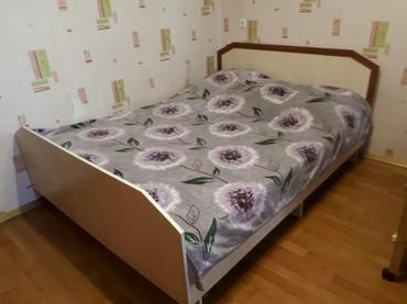 Кровать двуспальная. 200×150 см. Состояние хорошее. + Матрас. в Бишкек