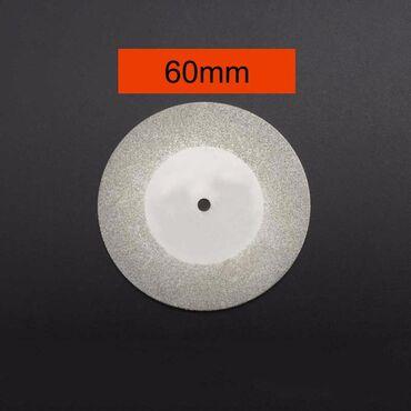 Dijamantsko kružno sečivo prečnik 60 mm plus osovina prečnik 3 mm. Za
