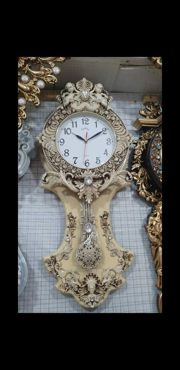 Антикварные часы - Азербайджан: Gözel rengli divar saati Başqa çeşidleri de varRayonlara çatdirilma