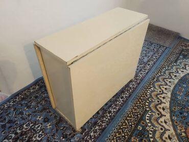 советский раскладной стол в Кыргызстан: Продаю стол раскладной, стол бабочка советский белого цвета!!! Срочно