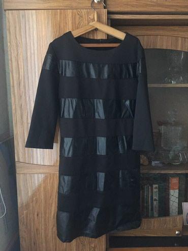 Плотное платье DOLCE GABBANA с кожанами вставками в Бишкек
