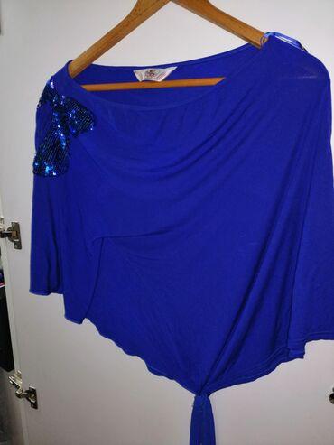 Royal plava, pamucna majca na jedno rame. Nova 500 dinara