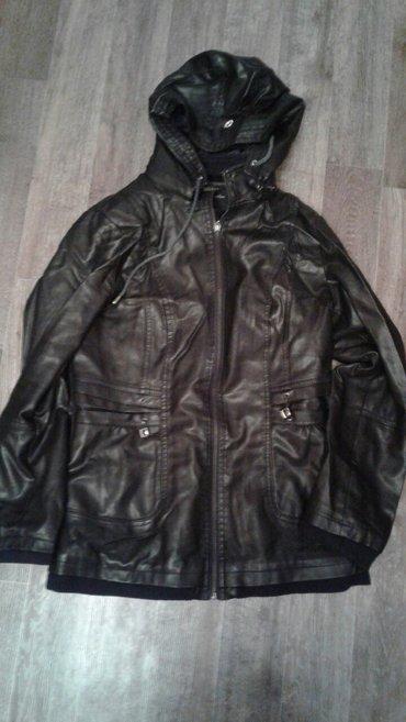 Продаю женскую кожаную куртку б/у. Размер 46-48. Цена 400. в Бишкек