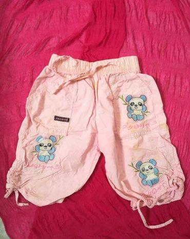 Dečije Farmerke i Pantalone   Vranje: Pantalonice za leto vel 2 roze boje sa medvedićima na džepovima, obim