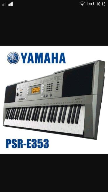 Hовый синтезатор Yamaha PSR-E353 цена:275$ в Бишкек