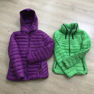 Куртки деми ,цена за каждую( фиолетовая М, зеленая S) в Бишкек