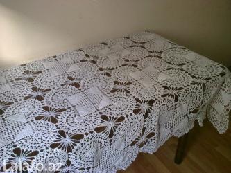 скатерть в Азербайджан: Скатерть ручной работы, Покрывало для двухспальной кровати бежевого