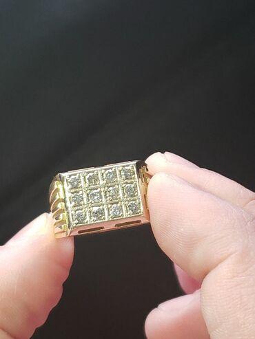 Кольцо 9,5гр 750 золота0,60 каррат камни чистые якутские