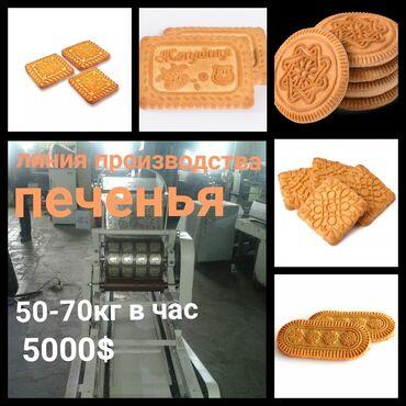 Линия производства печенья  🟢 длина 14 метров   🟢 10 видов  🟢 50-70 кг