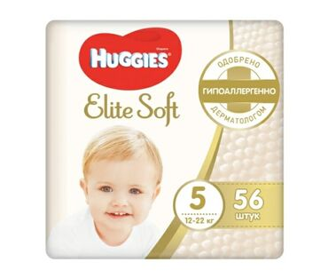 huggies elite soft в Кыргызстан: Подгузники Huggies Elite Soft #5, 12-22кг, 56 шт