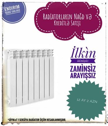 radiator kombi - Azərbaycan: Kombi və Radiatorlar Zaminsiz Arayışsız Yalnız şəxsiyyət vəsiqəsinə