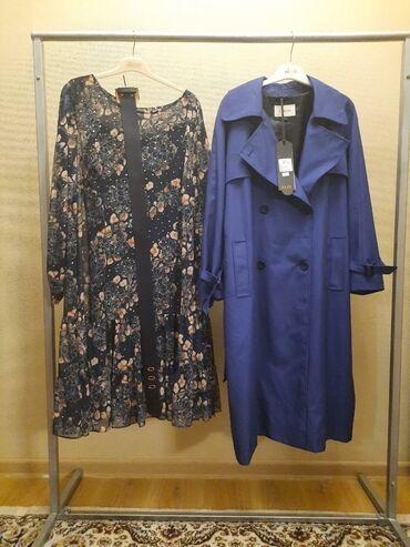 Плащи - Кыргызстан: Производство Турция Ткань Италия Плащ последний размер 54 Платья