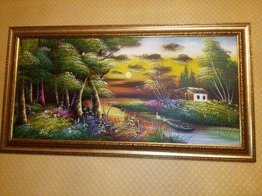 Bakı şəhərində Ketan uzerinde yagli boyalarla cekilmis resm eseri satilir. Olcusu: