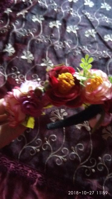 Ободок с цветами новый куплен в загранице