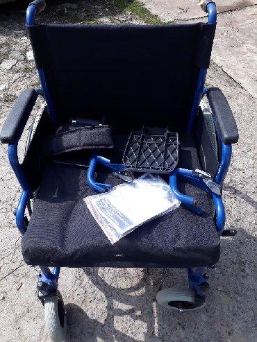 Детская-инвалидная-коляска - Кыргызстан: Функциональная инвалидная кресло - коляска для взрослых Ahmed H 040