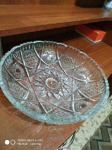 столик для фруктов в Кыргызстан: Ваза для фруктов хрустальная