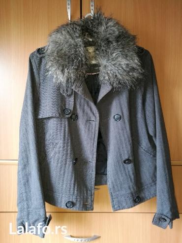 Hm-tanka-jaknica-puder-roza-s - Srbija: Springfield, ženska tanka jaknica, veličina m, krzno se može skinuti