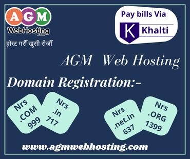 Domain Registration Service in Nepal - Pay Via Khalti and get 10%
