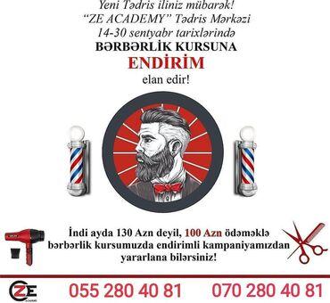 Xidmətlər - Azərbaycan: Bərbərlik kursuKampaniya davam edirSentyabr ayinin 30na kimi bərbərlik