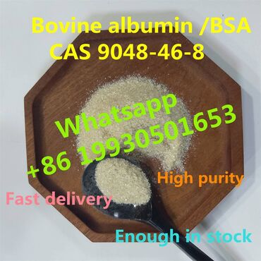 Chinese factory sell Bovine albumin with CAS 9048-46-8 BSA (whatsapp )