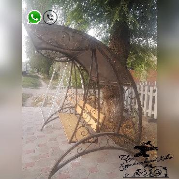 продаётся дача в Кыргызстан: КАЧЕЛИ ТАПЧАНЫ БЕСЕДКИ K-04 ♗✓ кованые качели, беседки и тапчаны✓