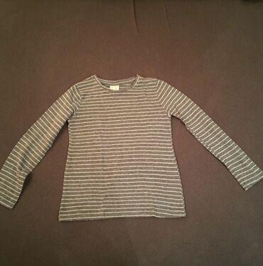 Majica dug - Srbija: Zara dečija majica sa dugim rukavima. Sivo bele boje. Kao nova, jako