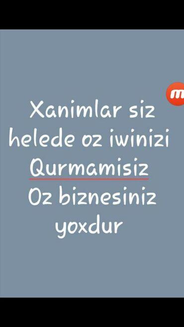 İş Göytəpəda: Şəbəkə marketinqi məsləhətçisi. İstənilən yaş. Natamam iş günü